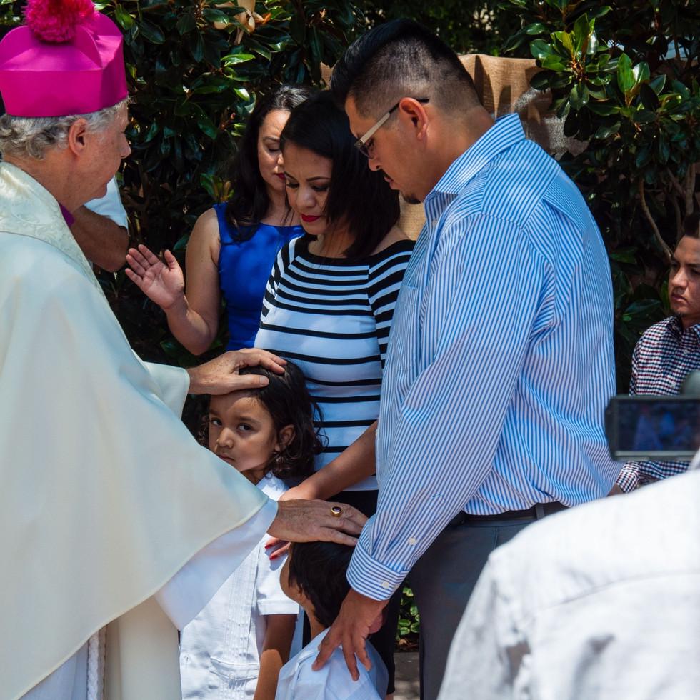 Baptism at the American HQs, LA, USA