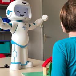 QTrobot helping children with autism