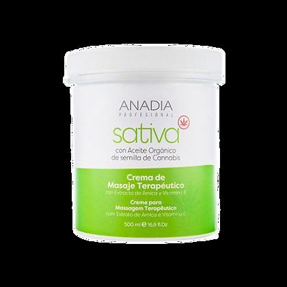 Anadia Crema Masaje Terapéutico con Aceite Orgánico de Semilla de Cannabis 500ml