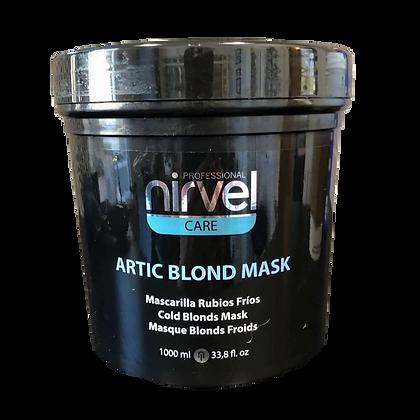 Nirvel Care Artic Blond Mask perfecto para matizar tonos dorados consigui 1000ml