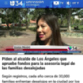There was media coverage on Univision Ch
