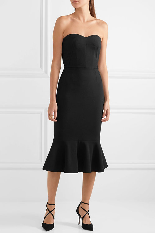 Strapless Fit and Flair Middie