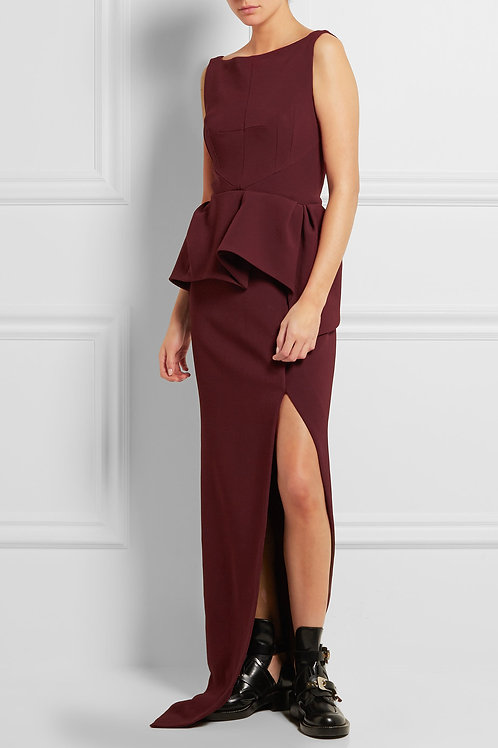 Chic and Sexy Peplum Gown