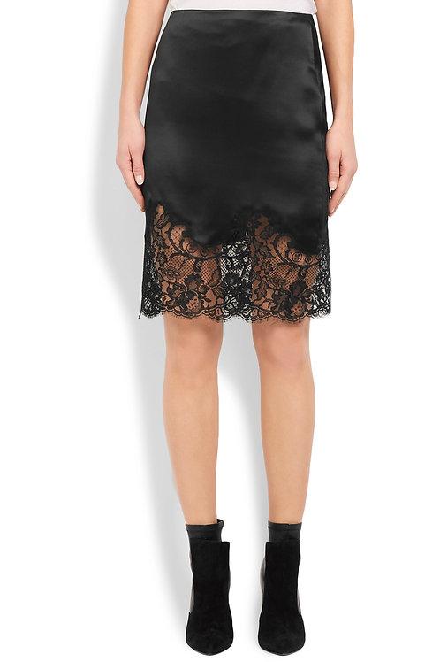 Lace Applique Mini Skirt