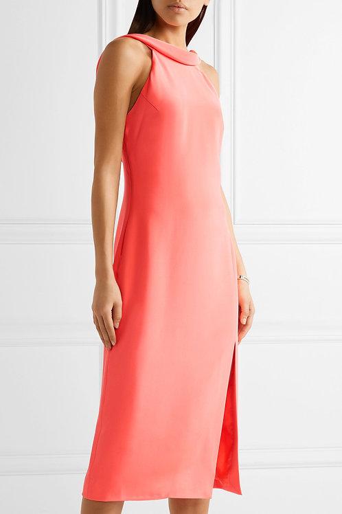 Cutout Crepe Midi Dress
