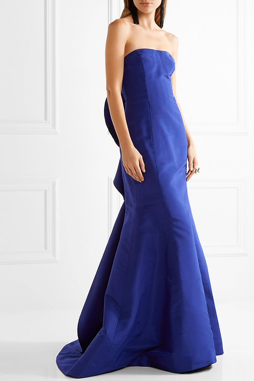 Strapless Ruffle Gown
