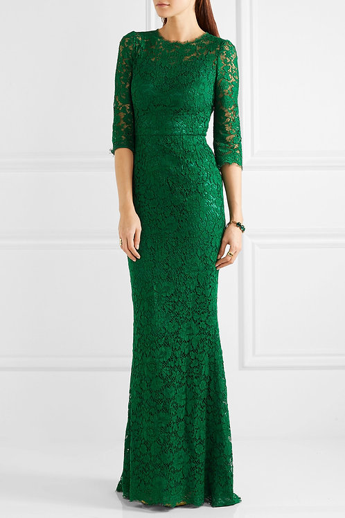 Lace Scalloped Gown
