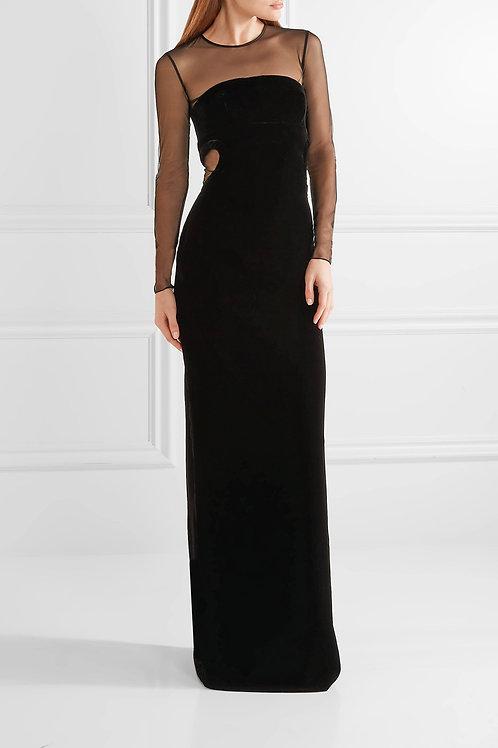 Velvet Cut-Out Gown