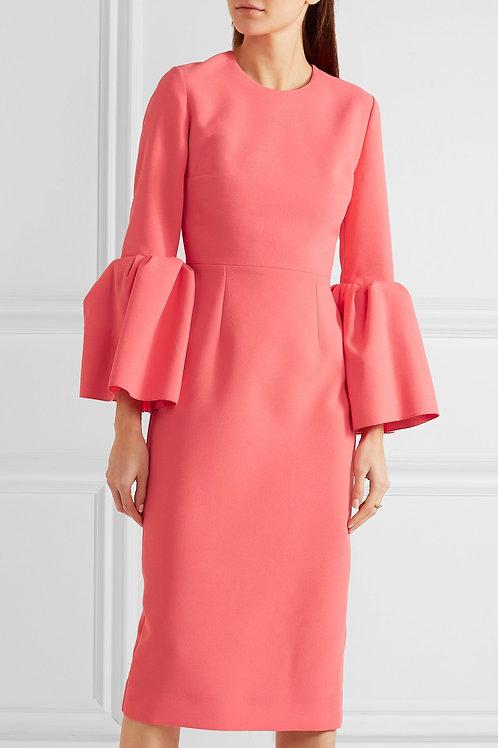 Crepe Bell Sleeve Dress