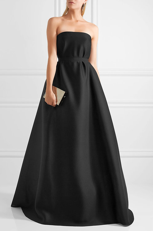 Strapless A-Line Full Gown