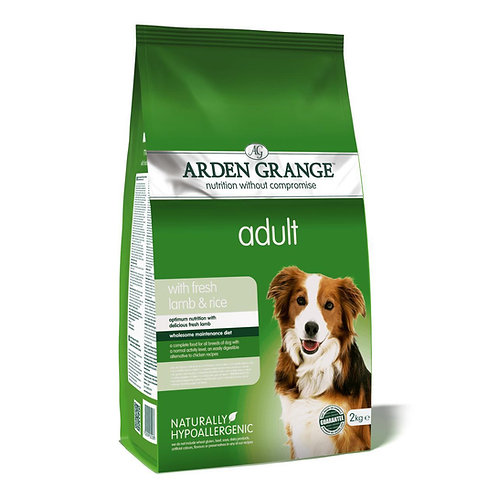 Arden Grange Adult Lamb and Rice Dry Dog Food 2kg