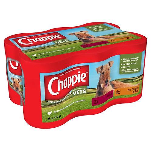 Chappie Dog Tins Original & Chicken & Rice 6 x 412g