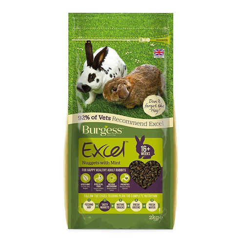 Burgess Excel Adult Rabbit Food with Mint 2kg