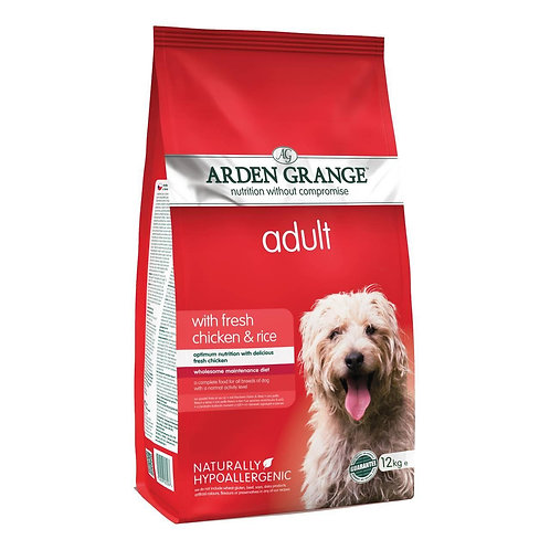 Arden Grange Adult Chicken and Rice Dry Dog Food 2kg