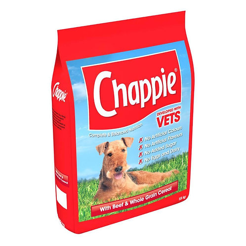 Chappie Dry with Beef & Wholegrain Cereal 15kg