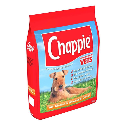 Chappie Dry with Chicken & Wholegrain Cereal 15kg
