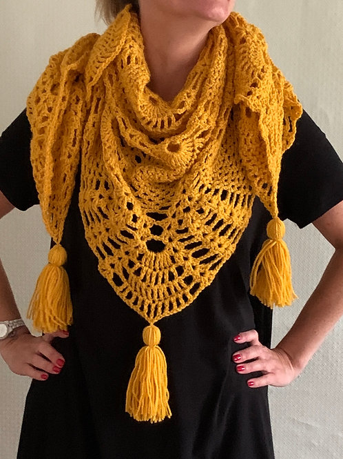 Pineapple  design shawl/wrap