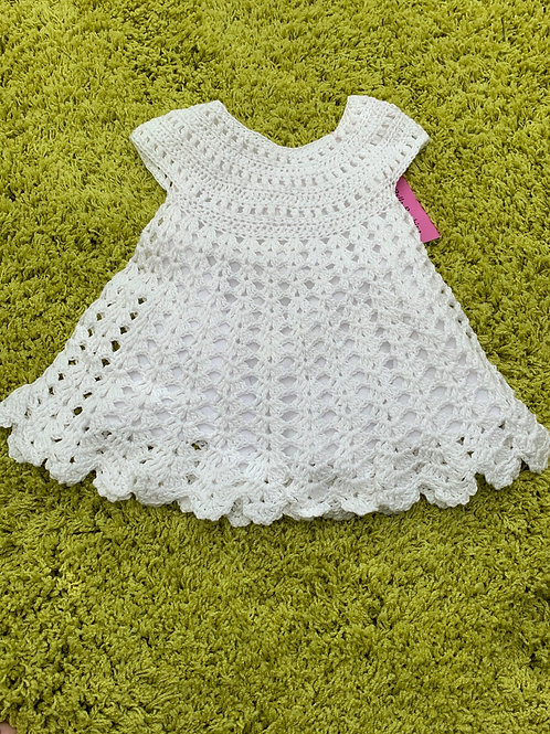 Lucia hand crocheted lace dress