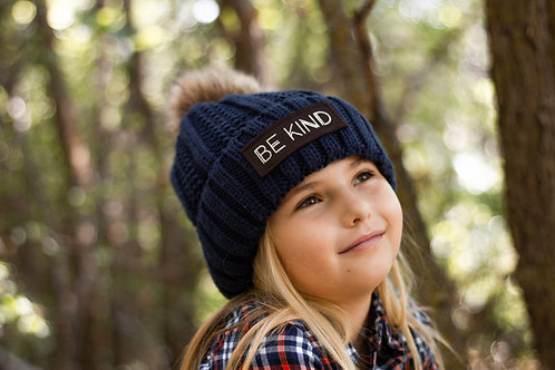 Adult Sized BE KIND CC Beanie Fuzzy Lined