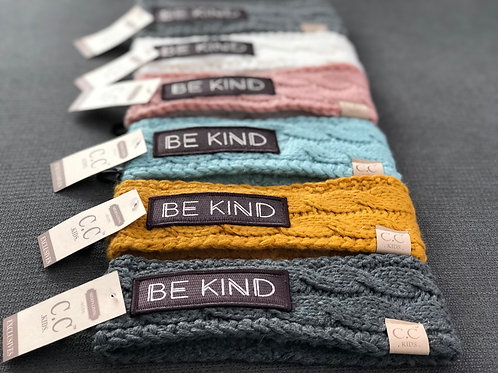 Youth Sized BE KIND CC Head Wrap Fleece Lined
