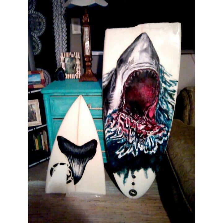 "SHARK BAIT 6'4"" SURF BOARD COMMISSION"