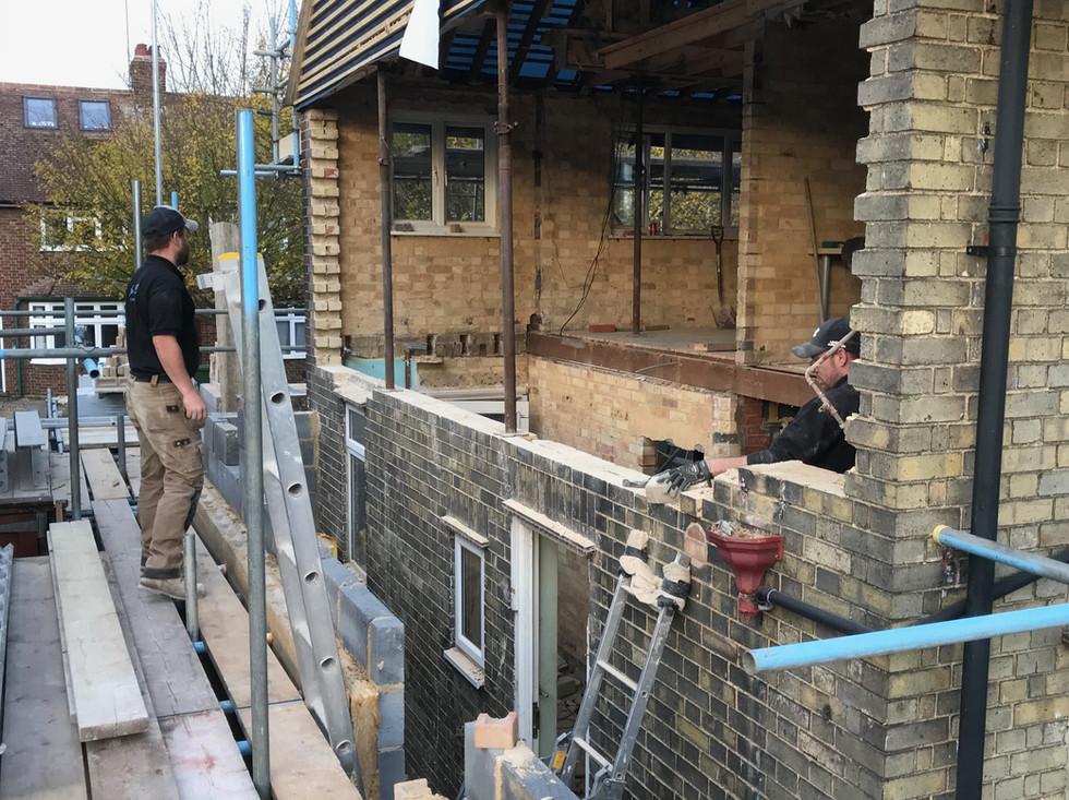 Removal of gable end wall