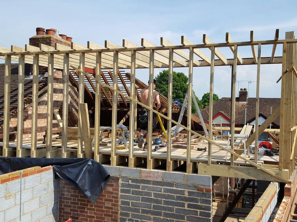 Loft timber framing