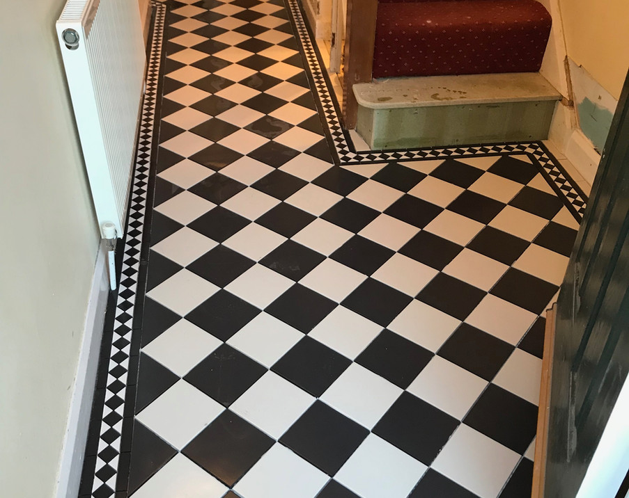 Traditional floor tiling