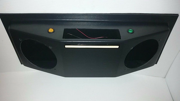 "Golf Cart UTV Overhead Stereo Console with Radio 6.5"" Speaker Cutouts (EMPTY)"