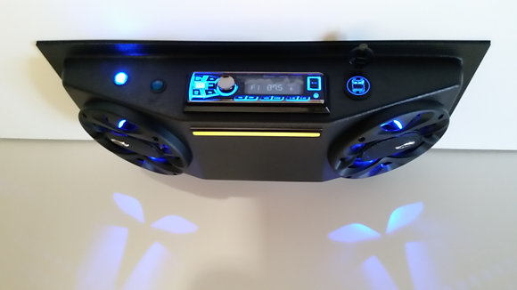 "UTV Radio Golf Cart Overhead Stereo Console with 6.5"" Speakers Xtra USB Charging"