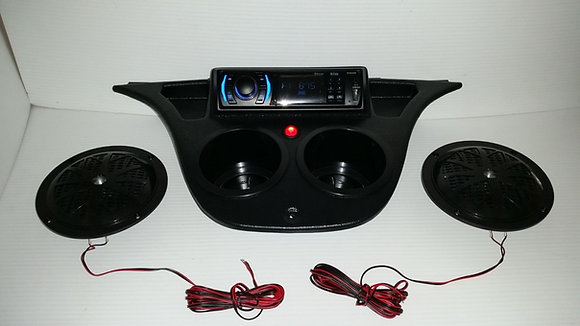 Yamaha DRIVE G29 Golf Cart Stereo Radio system DASH MOUNT Console with speakers!