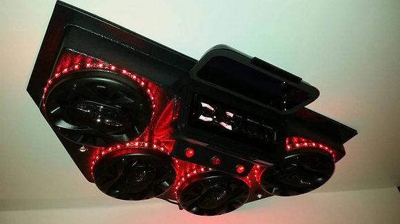 Golf Cart Stereo UTV Overhead Radio Console Bluetooth Four Speaker Sound System!