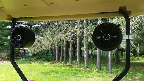 """Golf Cart Speaker Pods with Kicker Speakers and 1"""" mounting Clamps"""