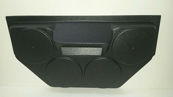 Golf Cart UTV Overhead Stereo Console Radio Housing Holds Four Speakers! (EMPTY)
