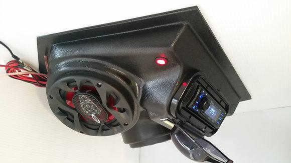 "New! Universal Overhead Stereo Radio Console 6.5"" Speakers EZ Go Club Car Yamaha"
