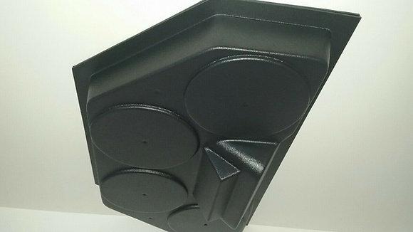 BLEMISHED! Golf Cart UTV Overhead Stereo Radio Housing Holds Four 5 1/4 Speakers