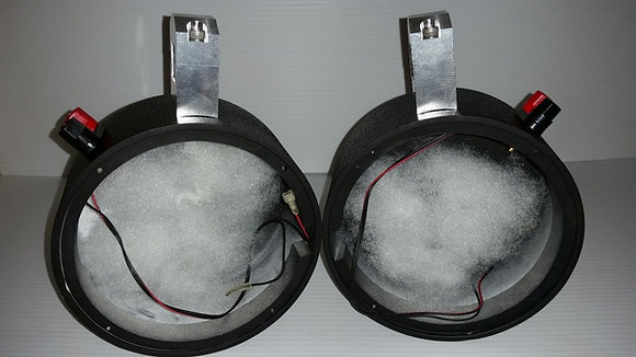 """RXV golf cart 6.5"""" Empty speaker pods with 1 1/4"""" clamps"""