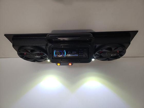 "UTV Golf Cart Overhead Stereo Radio Console 6.5"" Speakers EZ Go Club Car Yamaha"