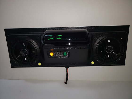 "UTV Golf Cart EZ GO Club Car Yamaha Overhead Stereo Radio Console 6.5"" Kickers!"