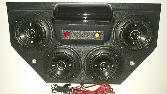 Golf Cart UTV Overhead Stereo Radio Console Bluetooth 4 Speaker Kenwood Kicker!