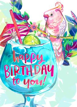 Blue Hawaii Birthday Card 5x7.jpg