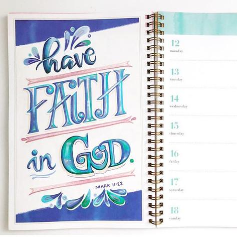 Illustrated Bible Verese Engagment Calendar 2019