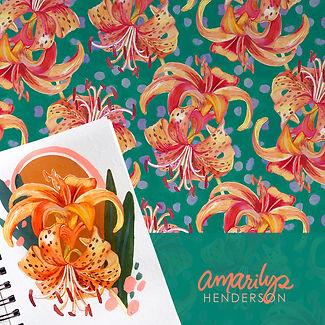 Tiger Lily sketchbook © Watercolor Devo,