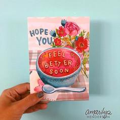 Feel Better Soon Greeting Card