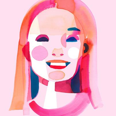 Blonde woman shape faces series.jpg