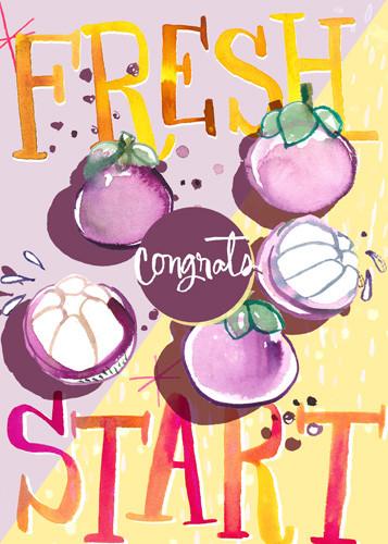 Congrats fresh start card mangosteen.jpg