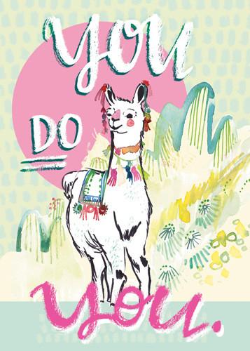 Llama dressed up You Do You.jpg