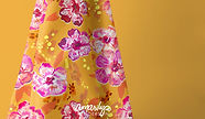 Hibiscus on ochre © Amarlys Henderson, W