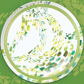 Green Puddles 6x6 Series plate.jpg