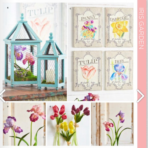 Spring Flowers Tin Wall Art